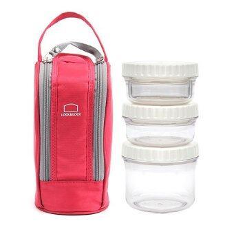 ต้องการขาย LOCK & LOCK BisFree Lunch box circle types -BPA FREEEco-friendly materials Tritan (Pink)