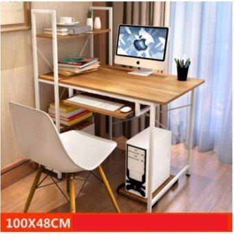 โต๊ะ Loft Style ขนาด1เมตร รุ่นBP217ขาว-เมเปิ้ลK