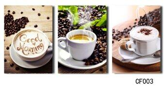 Harga Luxry 3PCS Coffee Canvas Painting Poster Wall Pictures For LivingRoom Print On Canvas wholesale(No Frame)