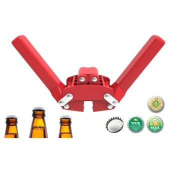 Manual Beer Bottle Capper For Home Beer Crown Caps On ReusableGlass Bottles - intl