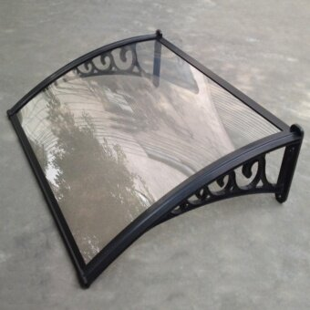 Merican PCA01 600x800mm polycarbonate awning balck and clear - intl