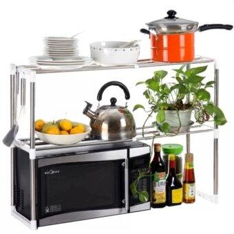 Microwave Rack Kitchen Shelves ชั้นวางยืด-หดได้ เอนกประสงค์