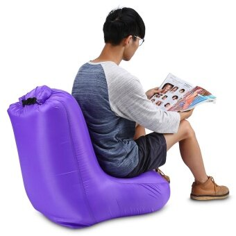 Minicar Purple CTSmart DL1620 Portable Water-resistant Max 150kg Loading Fast Inflatable Chair Sofa for Beach Party Rest - intl