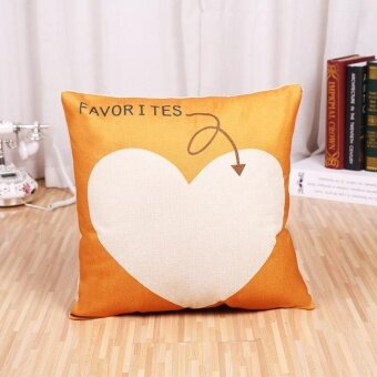 Mordern Letter Printed Linen Pillowcases Home Decor Car SofaCushion Covers - intl