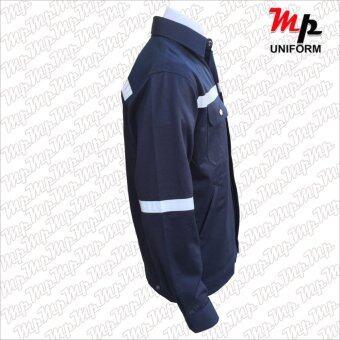 MP J007-05 เสื้อช่างผ้าเวสปอยท์ ซิปอกสาบปิดซ่อน แถบสะท้อนแสงหลังแขน ขา Size M - 3