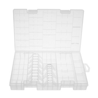 Multi-functional Plastic Battery Storage Box Holder Container (Transparent) - intl