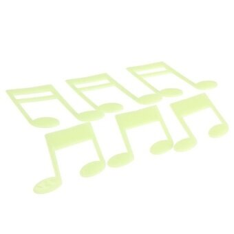 Music Notes Glow in the Dark Fluorescent Plastic Home Decorate Wall Sticker - intl