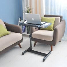 Mylazydesk โต๊ะวางโน๊ตบุ๊ค (รุ่น02-3 สีดำลายดอกไม้60cm) โต๊ะข้างเตียง โต๊ะข้างโซฟา ที่วางโน๊ตบุ๊ค แท่นวางโน๊ตบุ๊ค โต๊ะทำงาน โต๊ะวางคอมพิวเตอร์ โต๊ะอ่านหนังสื่อ โต๊ะเขียนหนังสือ โต๊ะอเนกประสงค์ overbed table lap desk laptop stand computer desk