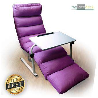 Mylazydesk เก้าอี้ญี่ปุ่น เบาะรองหลัง (แพคคู่รุ่น H01-205cmสีม่วง+J01สีขาว) โซฟาญี่ปุ่น