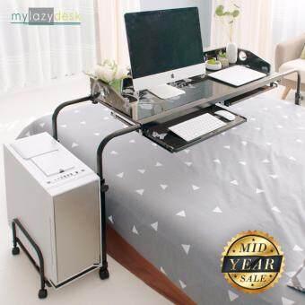 Mylazydesk โต๊ะคอมพิวเตอร์ โต๊ะทำงาน (รุ่น MLD-ขนาด140-สีดำ) โต๊ะคร่อมเตียง