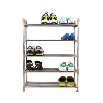 ต้องการขาย Nance Shop ชั้นวางรองเท้าสแตนเลส เอนกประสงค์ 5ชั้น (สีครีม)