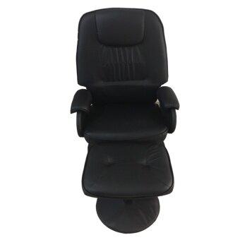 NDL เก้าอี้พักผ่อนฐานกลม+สตูล (สีดํา) รุ่น Lounge