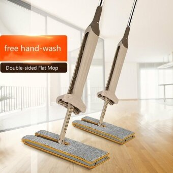 New 360-degree Rotation Double-sided Flat Mop free hand-wash LazyMop household Ceramic Tile Wooden Floor Mops - intl