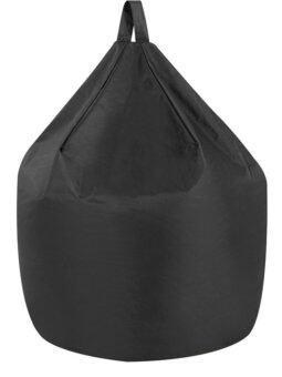 New Brand บีนแบคทรงหยดน้ำแบบมีหูจับ ขนาด 40x40x50 cm (สีดำ)