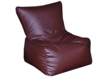 New Brand Bean Bag ทรงเก้าอี้โซฟาทรงสูง ขนาด 50x70x40 Cm - สีน้ำตาล