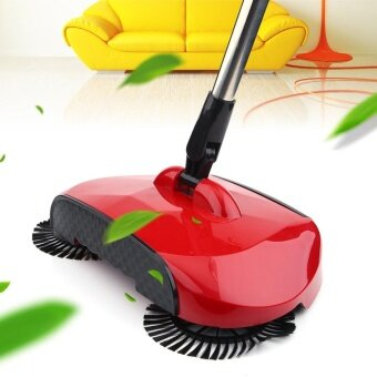New Hand Push Household Cleaning Floor Sweeper Broom SweepingMachine without Electricity Red