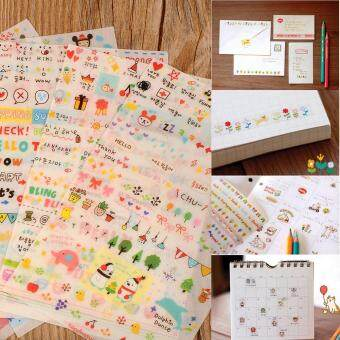 New Lovely 6 Sheet Paper Stickers for Scrapbook Book Wall Phone Decor