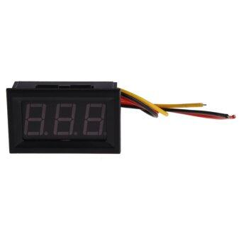 NEW Red LED Panel Meter Mini Digital Voltmeter DC 0 to 99.9V(Black)