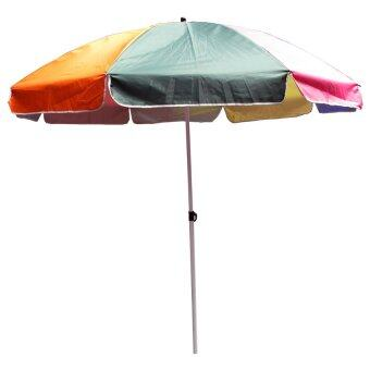 อยากขาย Nocolate ร่มสนามใหญ่ ขนาด 42 นิ้ว หนาพิเศษ แข็งแรงสองเท่า (Rainbow)