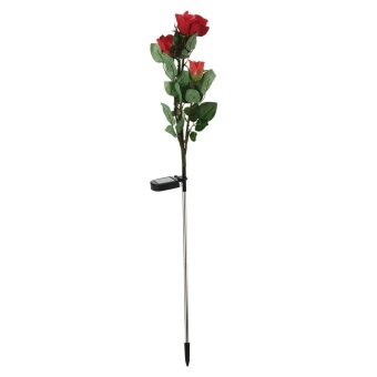 nonvoful LED Solar Rose Artificial Flowers Simulation Flower,34x6.3 In,(red) With Case - intl