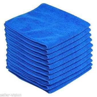Number 8 ผ้าไมโครไฟเบอร์ สำหรับทำความสะอาด แพ็ค6ชิ้น-สีน้ำเงิน