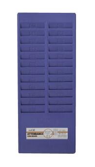 office2art แผงเสียบบัตร แผงบัตรตอก  แผงใส่บัตรตอกสำหรับบัตรตอกเวลา 24 ช่อง - สีฟ้า