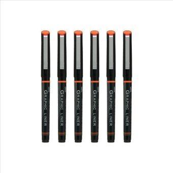 ประกาศขาย ปากกา OHTO Pen JAPAN Graphic Liner ตัดเส้น กันน้ำ ขนาดหัวปากกา 0.05Black - 6 ด้าม