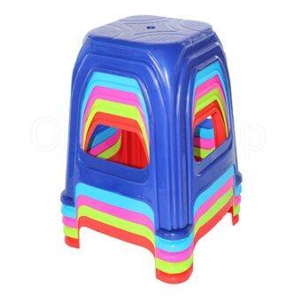 OK&M Shopเก้าอี้พลาสติกคิวลิส4ขา-A-(แพ็ค5ตัว)คละสี