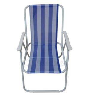 รีวิว OK&Mshop เก้าอี้ชายหาด พับเก็บได้ ผ้าลายขาว/ฟ้า