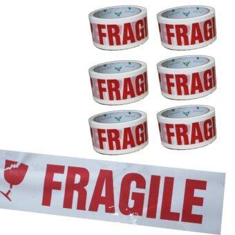 เทปปิดกล่อง OPP Fragile 6ม้วน