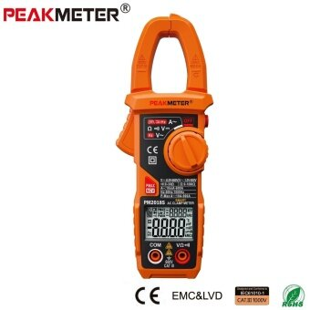 PEAKMETER 2018S Portable Smart AC Digital Clamp Meter Multimeter ACCurrent Voltage Resistance Continuity Measurement Tester - intl