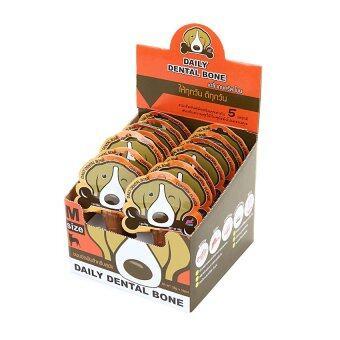 รีวิวพันทิป PET2GO ขนมขัดฟันสุนัข เดลี่ เดนทัลโบน รสไก่ 28g (14ชิ้น/กล่อง)