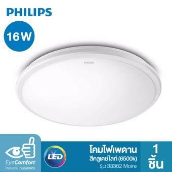 Philips โคมไฟเพดาน LED สำเร็จรูป รุ่น 33362 Moire 16 วัตต์ สีคูลเดย์ไลท์ (6500K)