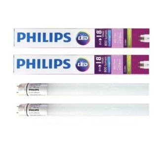 Philips หลอดไฟ LED EcoFit T8 8W(18W) 600mm. (Day light ) 2 หลอด