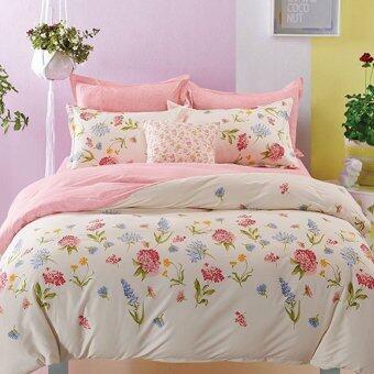 Pillow Land ผ้าปูที่นอน ชุดผ้านวม 6 ฟุต 6 ชิ้น - AA 106