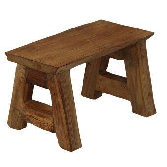 เก้าอี้นั่ง เก้าอี้พักเท้า (สีน้ำตาล)
