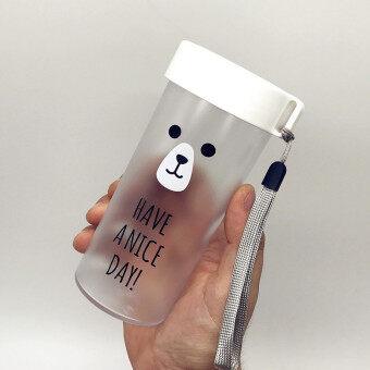 เกาหลีพลาสติกสำหรับผู้ชายและผู้หญิงนักเรียนถ้วยน้ำพร้อมถ้วย