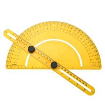 Protractor Angle Finder Articulating Arm Fold Ruler Measuring 180(Yellow) - intl