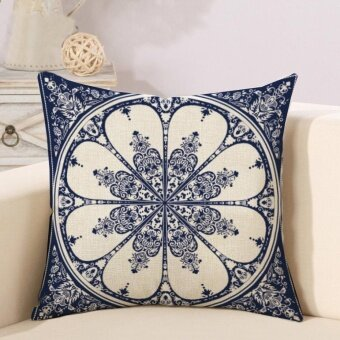 Ready Stock geometric Pattern Printed Linen Pillowcases Home DecorCar Sofa Cushion Covers - intl
