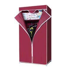 Replica Shop ตู้เสื้อผ้าซิปเดียว (สีแดง)