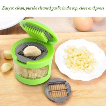 Reusable Pressing Vegetable Garlic Kitchen Food Slicer Chopper Cutter - intl