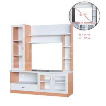 ต้องการขายด่วน RF Furniture ตู้โชว์TV รุ่น SH1603A ( สีบีช/ขาว )