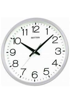 RHYTHM นาฬิกาแขวน รุ่น CMG494NR03 (สีขาว)