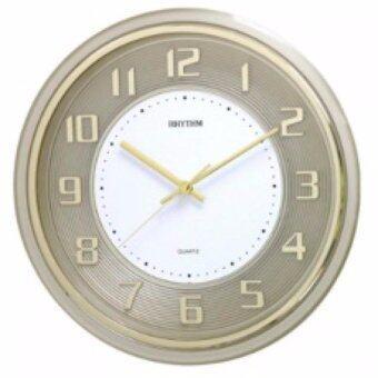 RHYTHM Japan นาฬิกาแขวนพลาสติก เครื่องเดินเรียบไร้เสียงรบกวน รุ่นCMG853NR