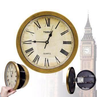 Room Story Wall Clock : นาฬิกาแขวนผนังพร้อมที่ตู้เซฟใส่ของ (สีทอง)