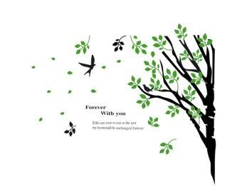 Harga Room Story Wall Sticker ลาย Forever with you - Green/Black