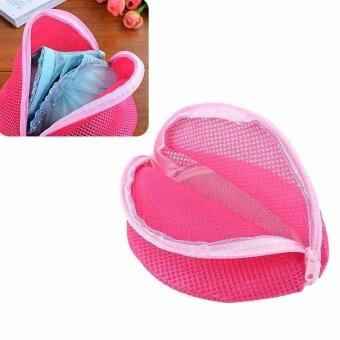 Rose Red triangle Wash Basket Bag Laundry Underwear Sock WashingBra Mesh Net