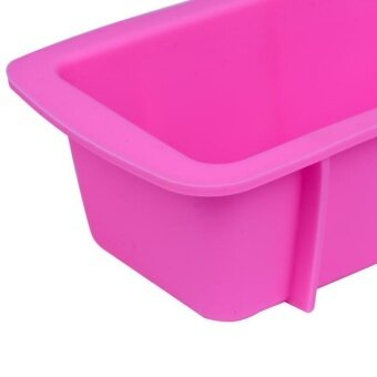 Silicone Bread Loaf Cake Mold Non Stick Bakeware Baking Pan OvenRectangle Mould - intl