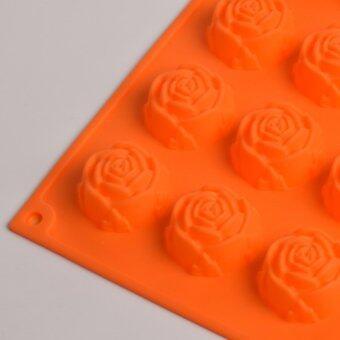 Silikone Craft กุหลาบ กลีบละเอียด 15 หลุม แม่พิมพ์ซิลิโคนไซส์มาตรฐาน ใช้ทำ ขนมไทย วุ้น ชอคโกแลต ฟองดองค์ ตกแต่งหน้าเค้กทำน้ำแข็ง Tester สบู่ เทียนแฟนซี เทียนวันเกิด เยลลี่