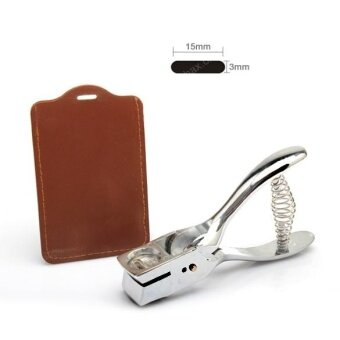 Silver Metal Hand Slot Puncher ID Card Photo Badge Hole Punch TagTool - intl